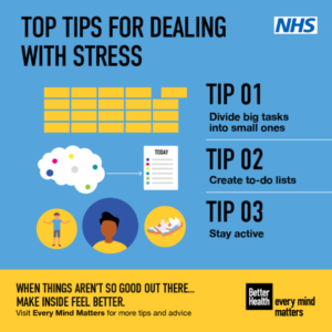 Image of top tips for dealing with stress